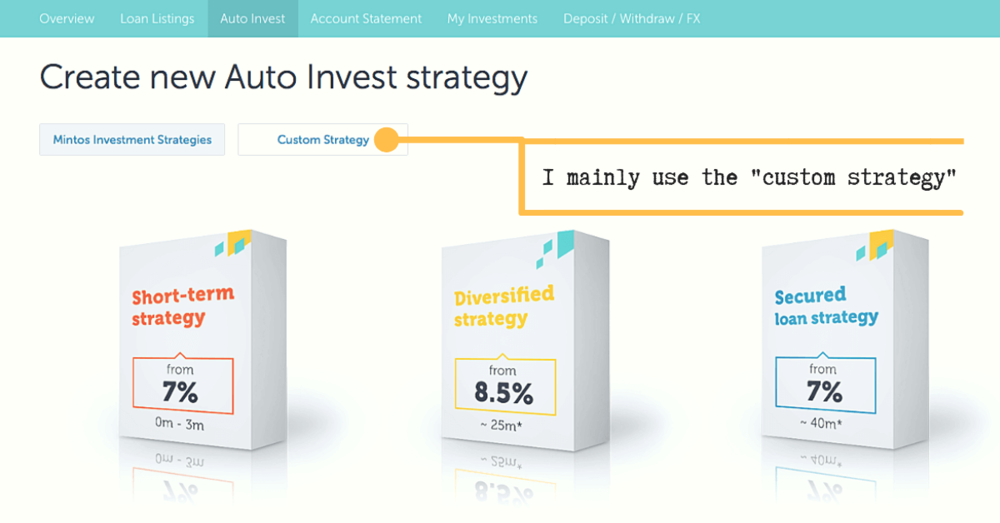 Mintos 3 auto-invest custom setup diversify best strategy promo code