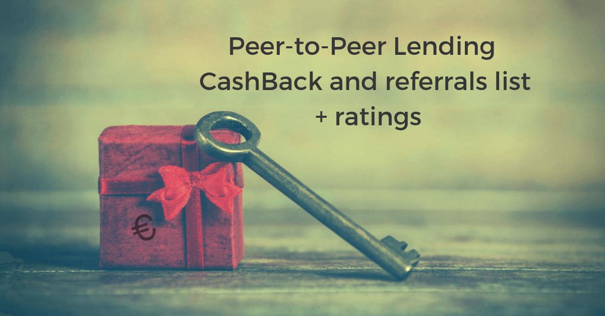 peer to peer bonus cashback