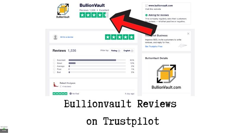 Bullionvault Reviews on Trustpilot