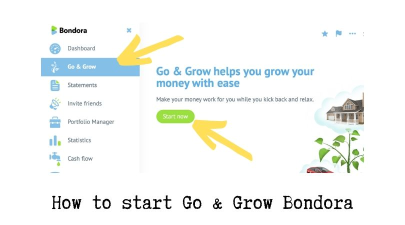 How to start Go & Grow Bondora
