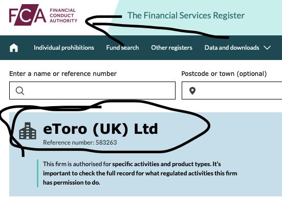 is etoro legit regulated UK