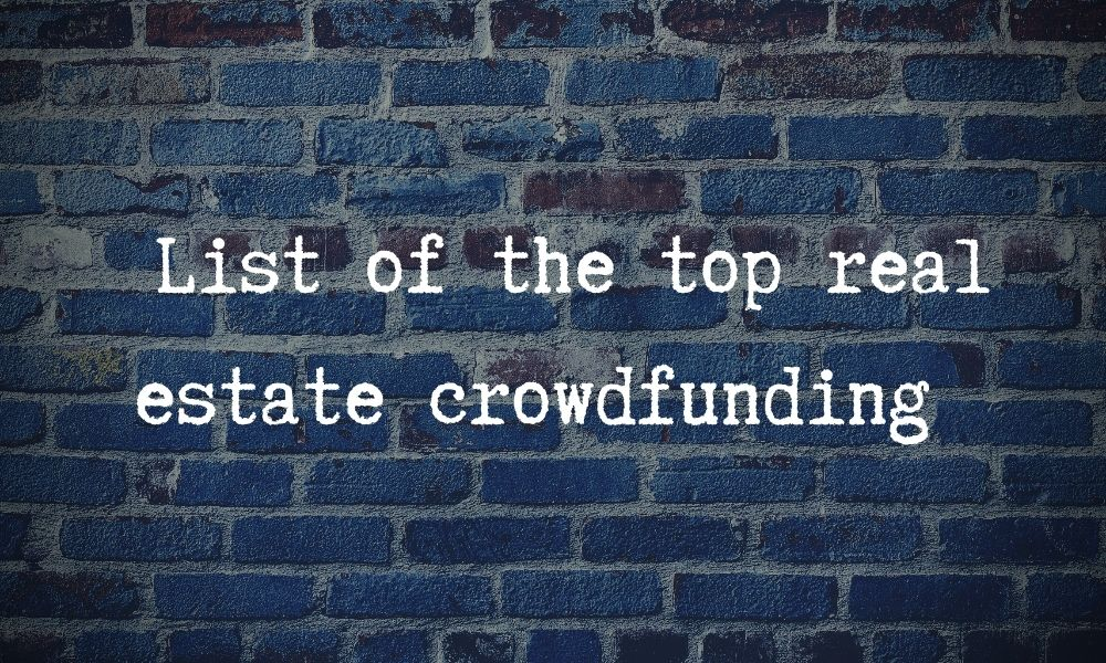 short list of the top real estate crowdfunding websites